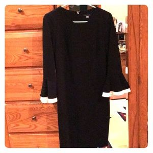 Tommy Hilfiger Black-n-White 3/4 Sleeve Dress